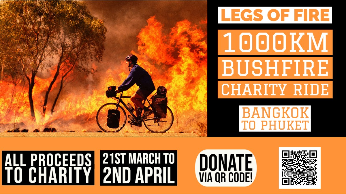LEGS OF FIRE! // 1,000KM CHARITY BICYCLE RIDE